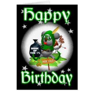 Koala Happy Birthday RobinHoodie Card-blank Card