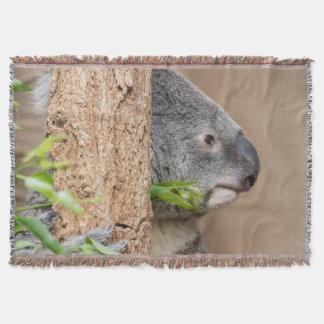 Koala headshot throw blanket
