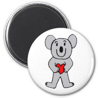 Koala in Love round magnet
