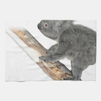 Koala In Profile Climbing Kitchen Towel
