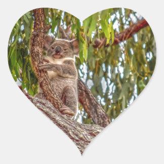 KOALA IN TREE AUSTRALIA ART EFFECTS HEART STICKER