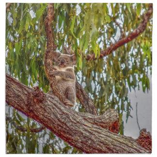 KOALA IN TREE AUSTRALIA ART EFFECTS NAPKIN