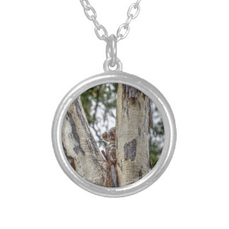 KOALA IN TREE AUSTRALIA WITH ART EFFECTS SILVER PLATED NECKLACE
