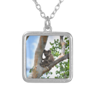KOALA IN TREE QUEENSLAND AUSTRALIA SILVER PLATED NECKLACE