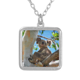 KOALA IN TREE QUEENSLAND AUSTRALIA SILVER PLATED NECKLACE