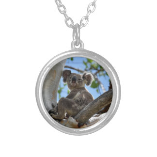 KOALA IN TREE RURAL QUEENSLAND AUSTRALIA SILVER PLATED NECKLACE