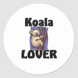 Koala Lover Classic Round Sticker
