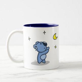 Koala Moon - Blue Two-Tone Coffee Mug