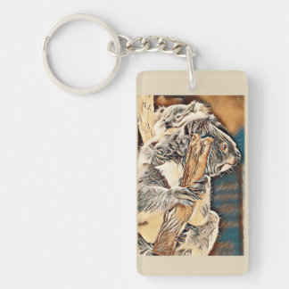 Koala Mother and Baby Keyring