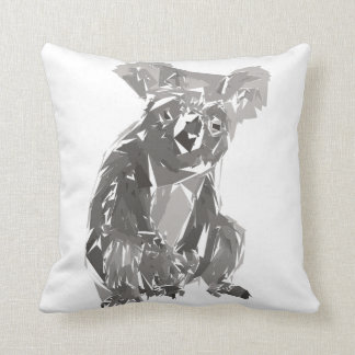 Koala polygon art illustration throw pillow
