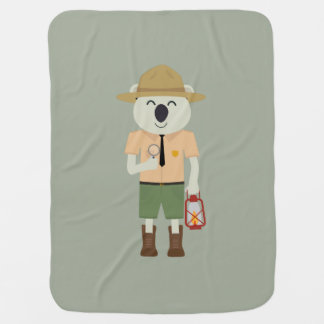 koala ranger with hat Zgvje Baby Blanket