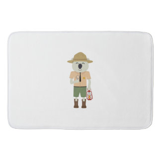 koala ranger with hat Zgvje Bath Mat