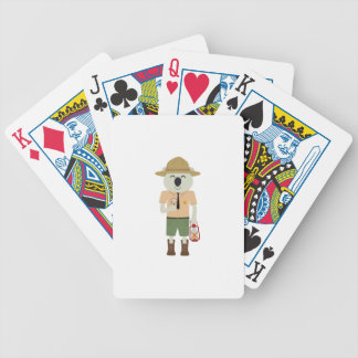 koala ranger with hat Zgvje Bicycle Playing Cards