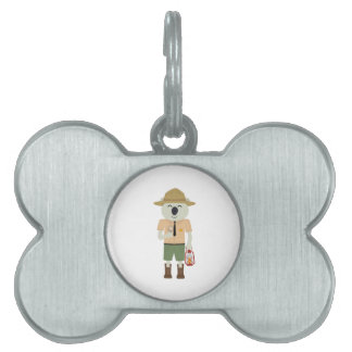 koala ranger with hat Zgvje Pet ID Tag