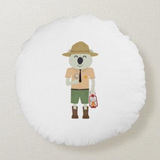 koala ranger with hat Zgvje Round Pillow
