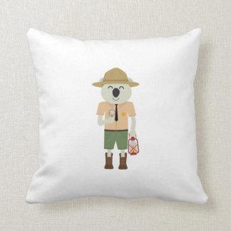 koala ranger with hat Zgvje Throw Pillow