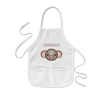 Koala - Round Abstract Personalized Kids Apron