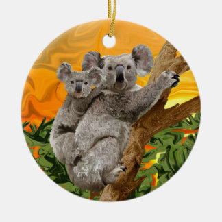 Koala Sunset Ceramic Ornament