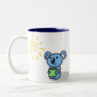 Koala Sunshine - Blue Two-Tone Coffee Mug