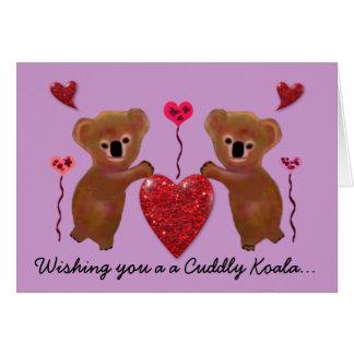 Koala Valentine Hearts Cards
