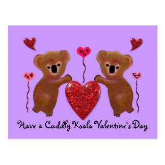 Koala Valentine Hearts Postcards