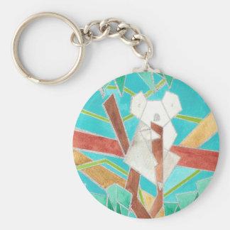 Koala Watercolor Art Keychain