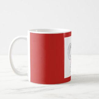 """Koala with a cup of hot coffee"" mug"