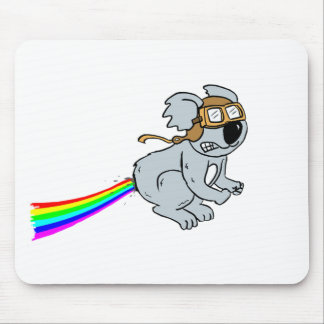 koala with rainbow mouse pad