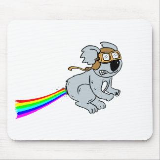 koala with rainbow mouse pad