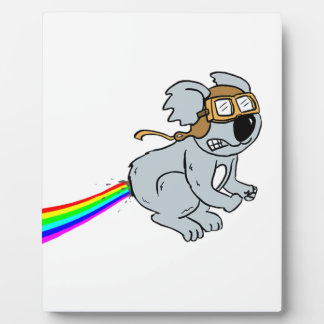 Koala with rainbow plaque