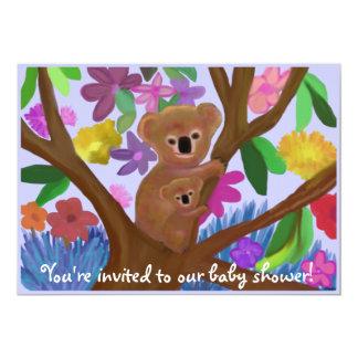 Koalas baby shower invitation