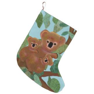 Koalas Eucalyptus Christmas Stockings Large Christmas Stocking
