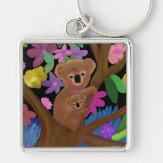 Koalas in the Outback Keychain