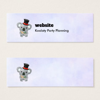 Koalaty Pun with Cute Koala in a Top Hat Mini Business Card