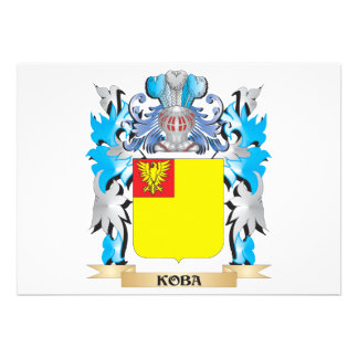 Koba Coat of Arms - Family Crest Invitations