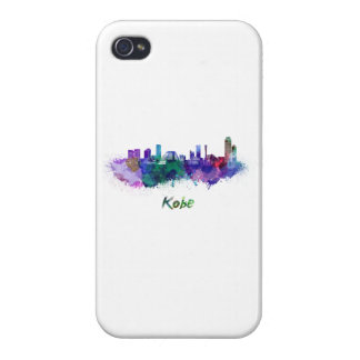 Kobe skyline in watercolor cover for iPhone 4