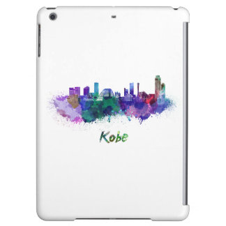 Kobe skyline in watercolor iPad air cases