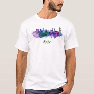 Kobe skyline in watercolor T-Shirt