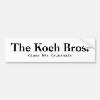 Koch Bros. Class War Bumper Sticker