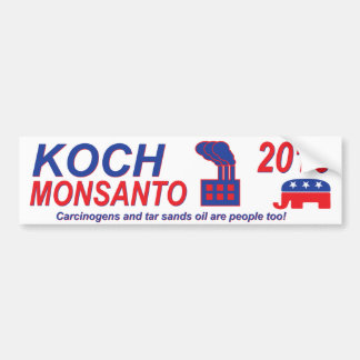 Koch Monsanto for President 2016 Bumper Sticker