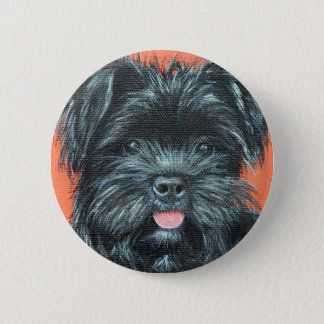 Koda - Terrier Painting 2 Inch Round Button
