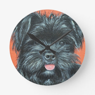 Koda - Terrier Painting Round Clock