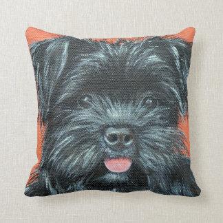 Koda - Terrier Painting Throw Pillow