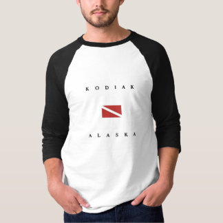 Kodiak Alaska Scuba Dive Flag T-Shirt