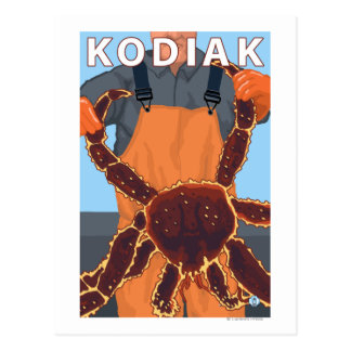 Kodiak, AlaskaAlaskan King Crab Postcard