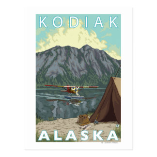 Kodiak, AlaskaBush Plane Fishing Postcard