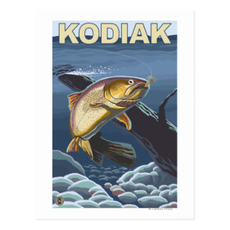 Kodiak, AlaskaCutthroat Trout Cross-Section Postcard