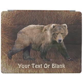 Kodiak Bear On Caribou Fur iPad Cover