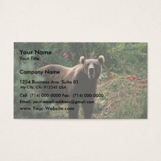 Kodiak Brown Bear Business Card