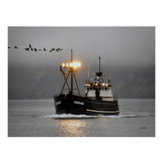 Kodiak, Crab Boat in Dutch Harbor, Alaska Poster